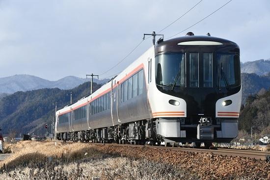 2020年2月9日撮影 飛騨古川にてHC85系 試運転