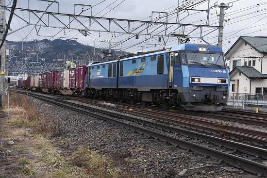 2020年2月8日撮影 東線貨物2083レ EH200-15号機