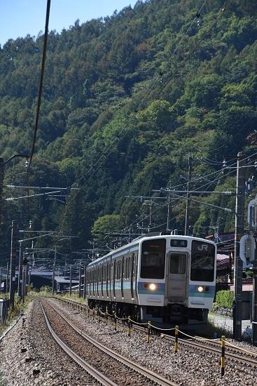 2019年10月16日撮影 829M 211系 奈良井駅に向けて