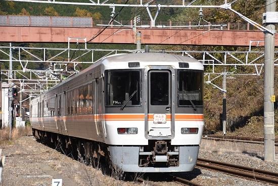 2019年11月10日撮影 木曽福島駅に到着の「中山道トレイン」