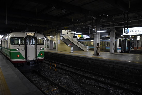 2019年12月8日撮影 長野駅にて115系 S7編成初代長野色