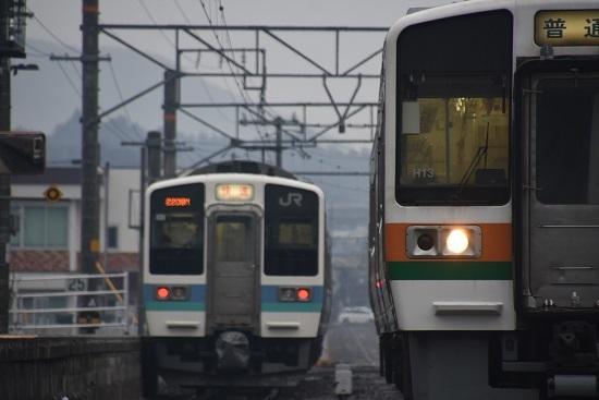 2020年2月16日撮影 飯田線は北殿駅にて211系発車