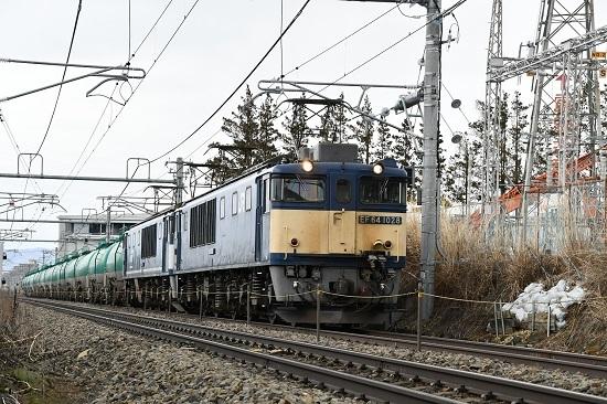 2020年2月22日撮影 西線貨物8084レ 塩尻駅手前