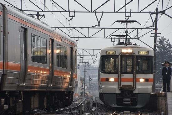 2020年2月16日撮影 北殿駅にて313系の並び その2