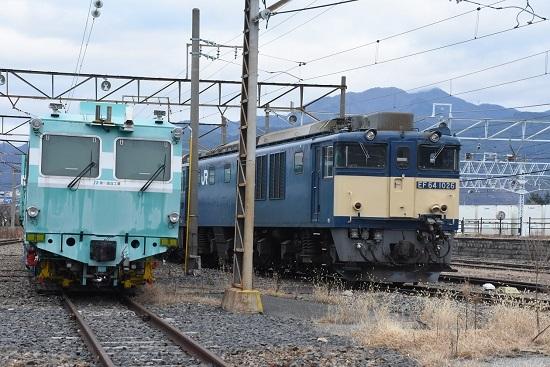 2019年12月8日撮影 南松本にてEF64-1026号機