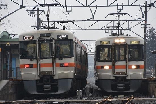 2020年2月16日撮影 北殿駅にて313系の並び その3