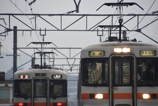 2020年2月16日撮影 北殿駅にて313系の並び その4