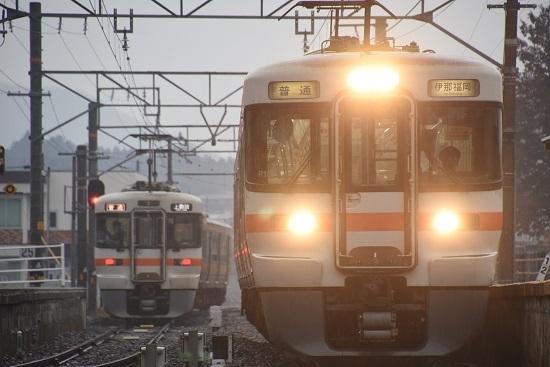 2020年2月16日撮影 北殿駅にて313系の並び その5