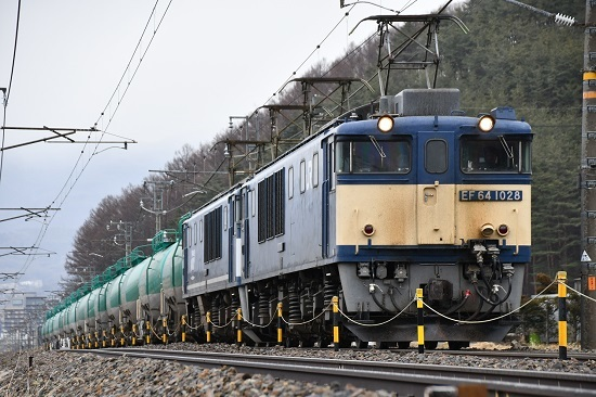 2020年2月22日撮影 西線貨物8084レ 塩尻→洗馬