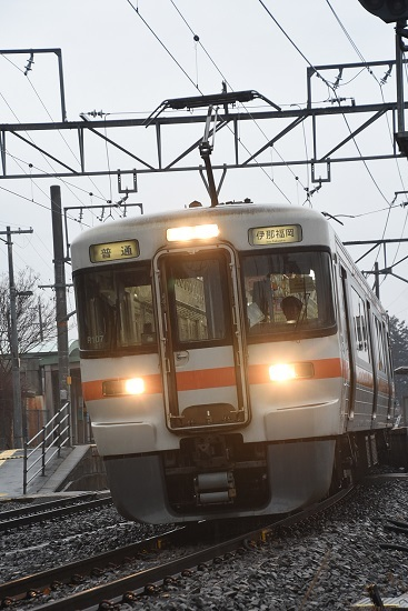 2020年2月16日撮影 北殿駅にて313系の並び その6