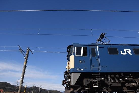 2019年12月14日撮影 EF64-1034号機と青い空