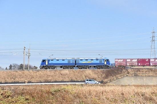 2019年12月14日撮影 東線貨物2083レ EH200-3号機サイドから
