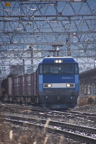 2019年12月14日撮影 東線貨物2083レ EH200-3号機正面から