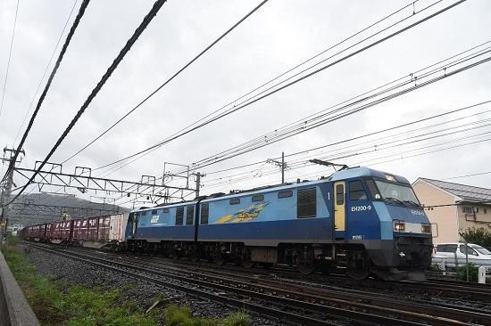 2019年8月30日撮影 東線貨物2083レ EH200-9号機が牽くコキ貨物