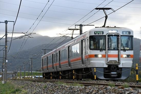 2019年10月13日撮影 313系下り運転再開1番列車