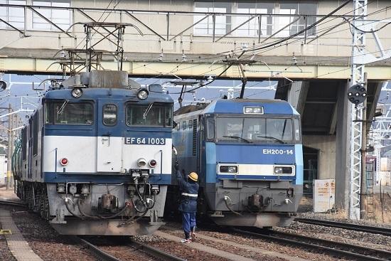 2019年12月15日撮影 南松本にて西線貨物8084レ 無線機返却