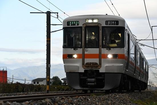 2019年10月13日撮影 313系上り運転再開1番列車