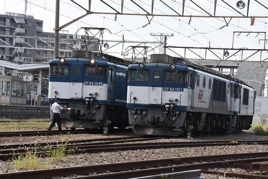 2019年9月16日撮影 西線貨物8084レ EF64-1049号機