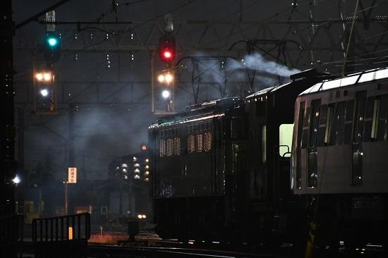 2019年11月15日撮影 都営大江戸線甲種輸送 ヨ太郎から煙
