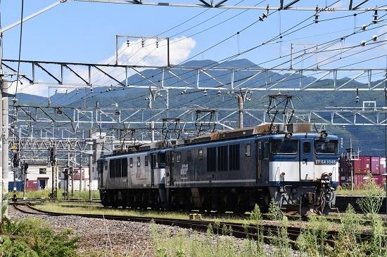 2019年8月31日撮影 篠ノ井線8465レ EF64重単