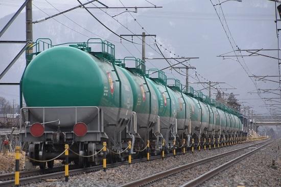 2020年2月22日撮影 西線貨物8084レ 緑タキのお尻