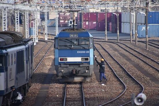 2019年12月21日撮影 東線貨物2080レ 無線機渡し