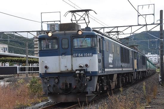 2019年10月19日撮影 西線貨物8883レ 塩尻駅発車