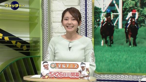 竹崎由佳、おっぱい揺らしてスポーツニュース!エロいwww