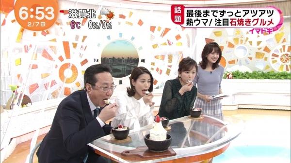 井上清華のニット乳&久慈暁子のミニスカ太もも! (3)