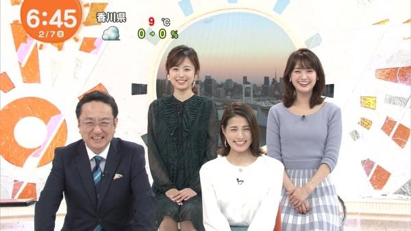 井上清華のニット乳&久慈暁子のミニスカ太もも! (7)