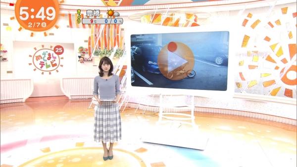 井上清華のニット乳&久慈暁子のミニスカ太もも! (6)