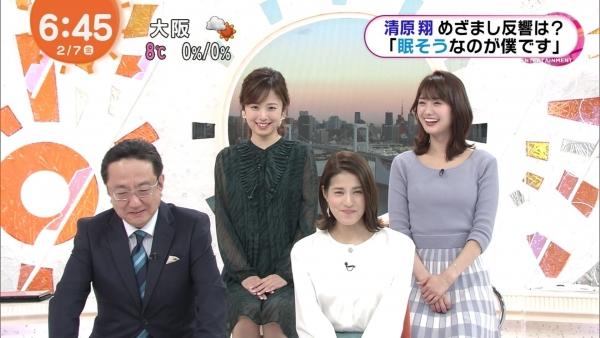 井上清華のニット乳&久慈暁子のミニスカ太もも! (9)