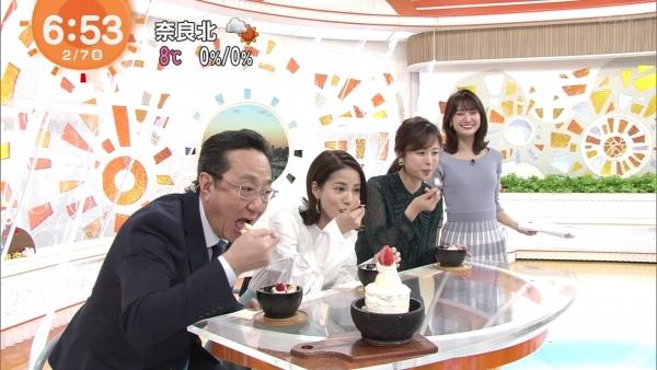 井上清華のニット乳&久慈暁子のミニスカ太もも! (10)