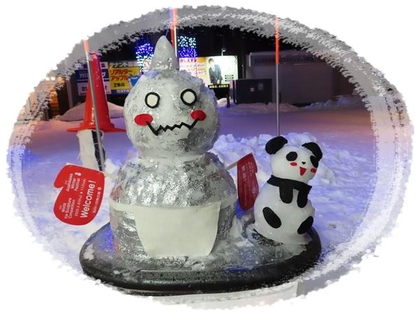 ウエルカム雪だるま