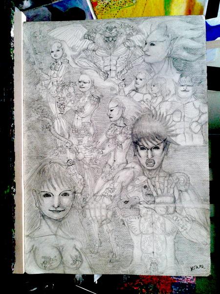 鉛筆画 02