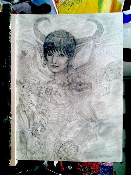 鉛筆画 03
