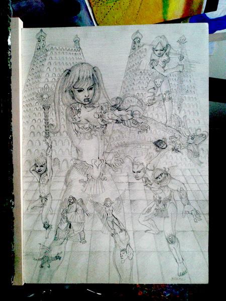 鉛筆画 05