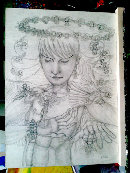 鉛筆画 08