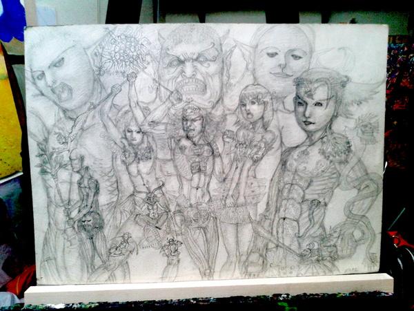 鉛筆画 09