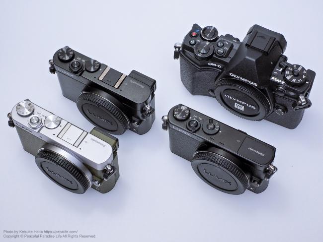GM5 GM1 OM-D E-M5 MarkII 比較