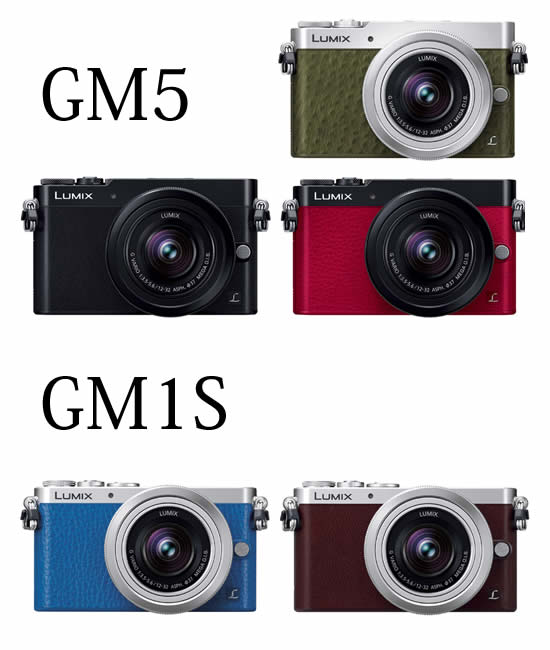 LUMIX GM5とGM1Sのカラーラインナップ