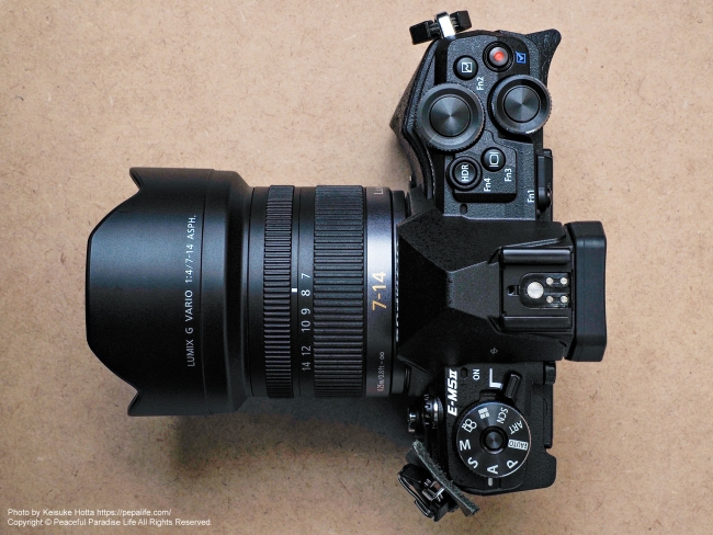 OLYMPUS OM-D E-M5 MarkⅡにLUMIX G VARIO 7-14mm / F4.0 ASPH.を装着 上