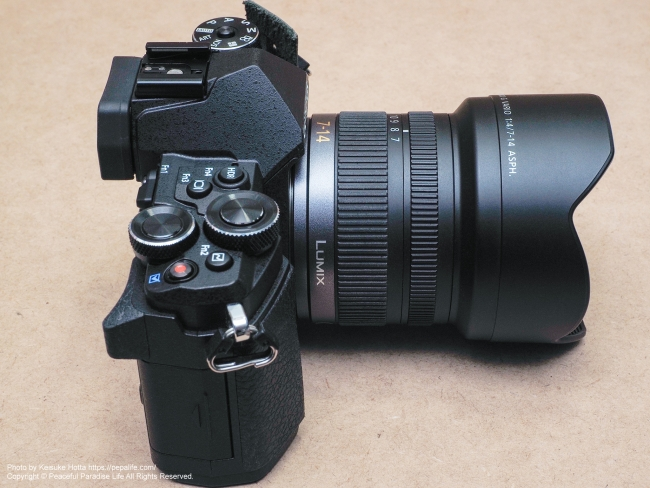 OLYMPUS OM-D E-M5 MarkⅡにLUMIX G VARIO 7-14mm / F4.0 ASPH.を装着 上横