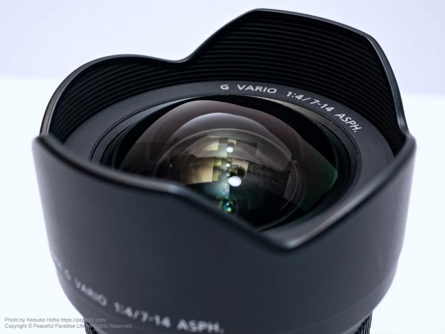 LUMIX G VARIO 7-14mm / F4.0 ASPH. レンズ 7mm側
