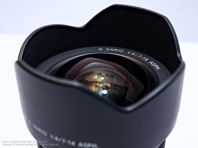 LUMIX G VARIO 7-14mm / F4.0 ASPH. レンズ 14mm側