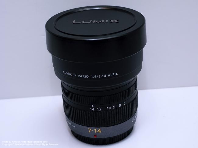 LUMIX G VARIO 7-14mm / F4.0 ASPH. キャップ装着