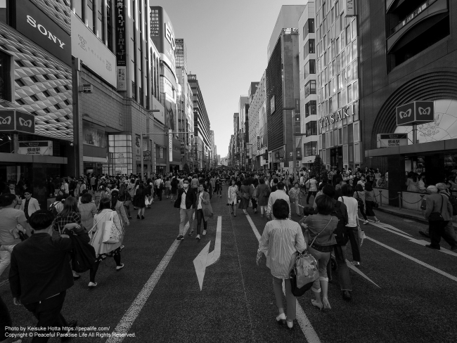 LUMIX G VARIO 7-14mm / F4.0 ASPH. 試し撮り 作例1: 東京メトロ銀座駅
