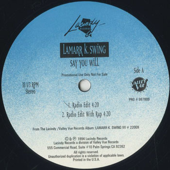 LAMARR K SWING Say You Will_20200213