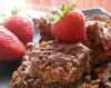 chocolate and strawberry flapjack