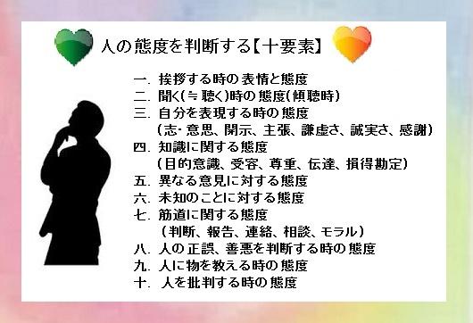 人の態度を判断する【十要素】